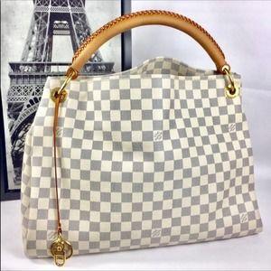💎✨AUTHENTIC✨💎LV Artsy MM Damier Azur Hobo Bag White